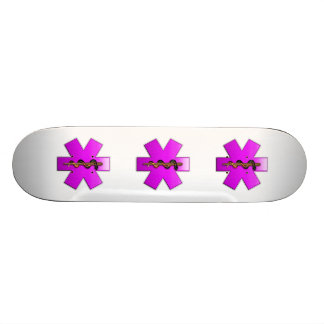 Star Of Life(pink) Skate Board