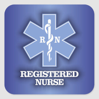 Star of Life -Registered Nurse Square Sticker