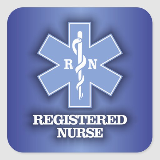 Star of Life -Registered Nurse Stickers