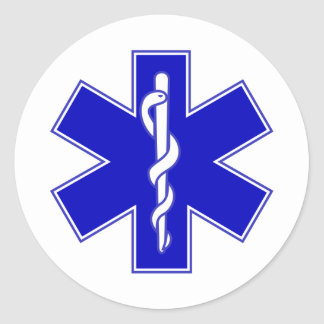 Star of Life Round Sticker