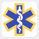 Star of life square sticker