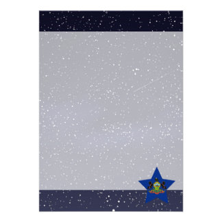 Star of Pennsylvania Flag 13 Cm X 18 Cm Invitation Card