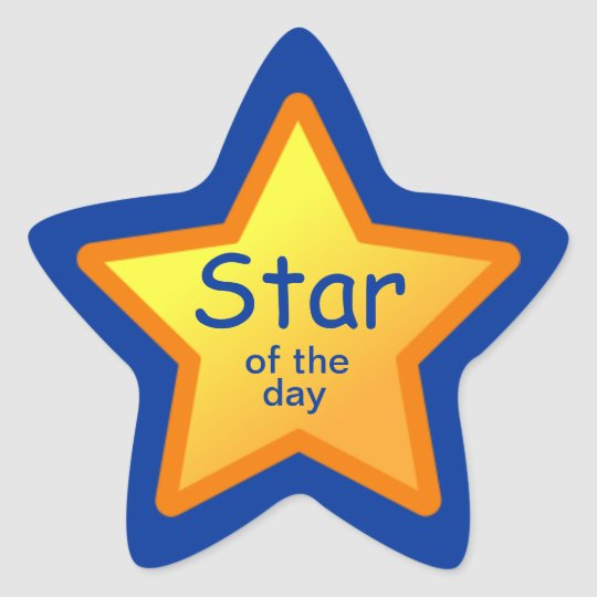 Star of the Day Stickers for Students | Zazzle.co.uk