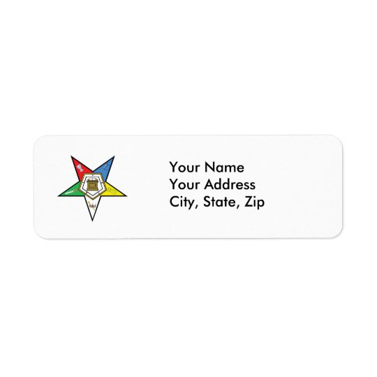 Star of the OES Return Address Label