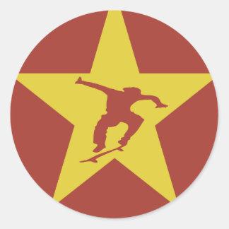Star of the Revolution Classic Round Sticker
