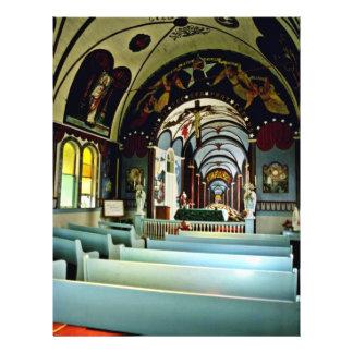 "Star Of The Sea """"Painted"""" Church - Kalapana, Haw 21.5 Cm X 28 Cm Flyer"