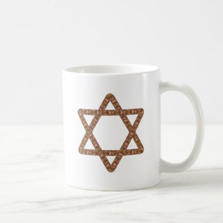 Star of Tiles Star of David for Bar or Bat Mitzvah Basic White Mug