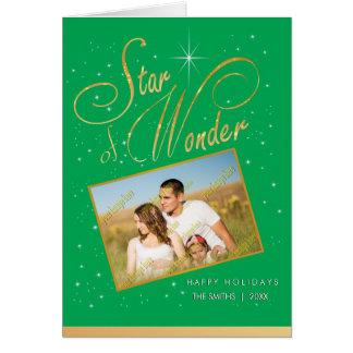 Star of Wonder Family Photo Christmas Holiday Card