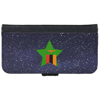 Star of Zambia Flag iPhone 6 Wallet Case