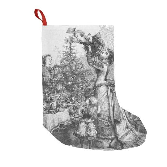 Star on Christmas Tree Small Christmas Stocking