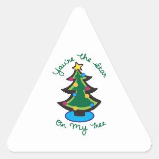 Star On My Tree Triangle Sticker