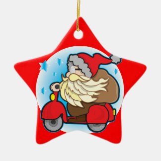 Star Ornament for Christmas tree with Santa