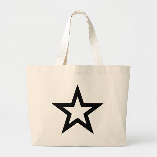 Star outline jumbo tote bag