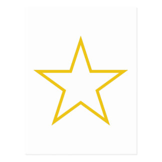 Star Outline Postcard