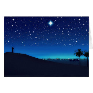 Star Over Bethlehem Christmas Card