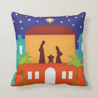 Star over Bethlehem Christmas Nativity Bendel Throw Cushions