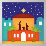 Star over Bethlehem Christmas Nativity Poster