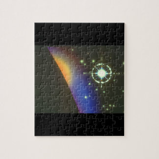 Star over Planet. (star;planet_Space Scenes Puzzles