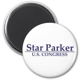 Star Parker for U.S. Congress 6 Cm Round Magnet
