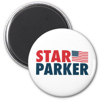 Star Parker Patriotic 6 Cm Round Magnet