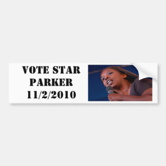Star Parker, VOTE STAR PARKER 11/2/2010 Bumper Sticker