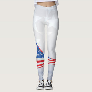 Star Pattern American Flag Leggings