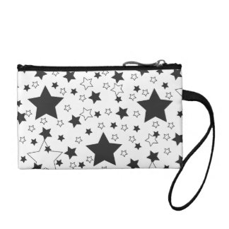 Star Pattern Black Coin Purse