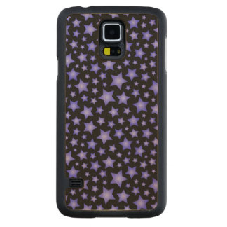 Star pattern carved maple galaxy s5 case