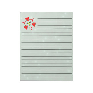 Star Pattern green Notepad