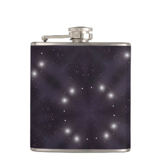 Star pattern hip flask