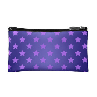 Star Pattern in Purple and Deep Blue Makeup Bag