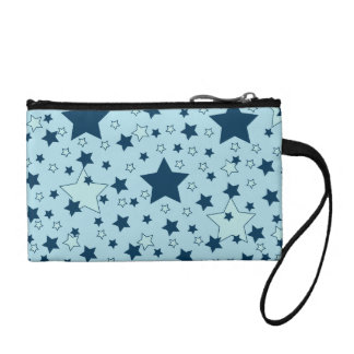 Star Pattern Navy on Blue Coin Purse