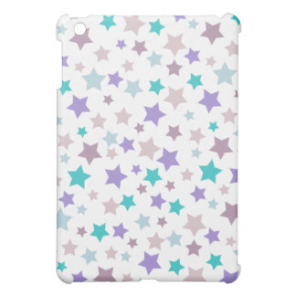 Star Pattern - Purple Pink and Blue on White Case For The iPad Mini