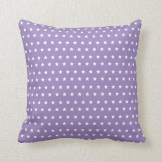 Star Pattern. Purple Star Collection Cushion