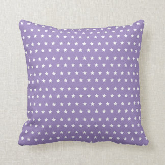 Star Pattern. Purple Star Collection Throw Pillow