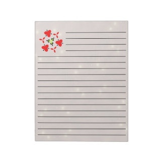 Star Pattern red Notepad