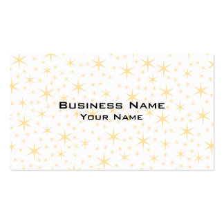 Star Pattern, White and Non-metallic Gold Color. Pack Of Standard Business Cards