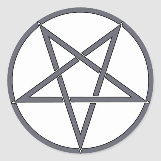 Star Pentagram Five 5 Pointed Symbol Classic Comic Round Sticker
