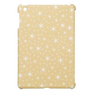 Star Pern in White and Non-metallic Gold Color. iPad Mini Case