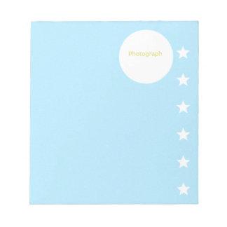 Star Photograph Template Notepad