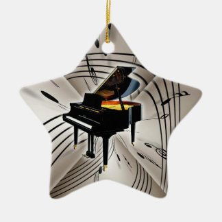 Star Piano Keyboard Christmas Xmas Ornament