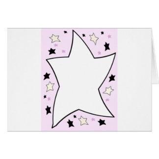 star pink greeting card