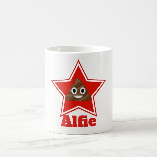 Star Poo Emoji Coffee Mug