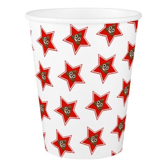 Star Poo Emoji Paper Cup
