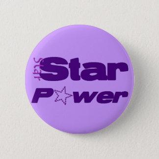 Star Power 6 Cm Round Badge