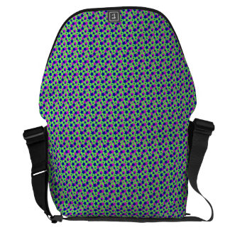 STAR POWER: BLUE & PURPLE PARADE on GREEN ~ Courier Bag