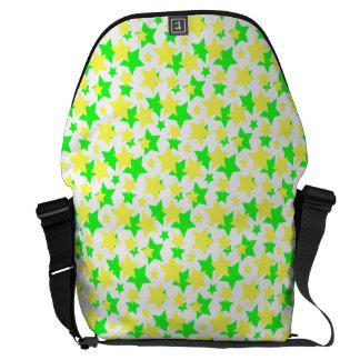 STAR POWER: GREEN & YELLOW PARADE! COMMUTER BAG