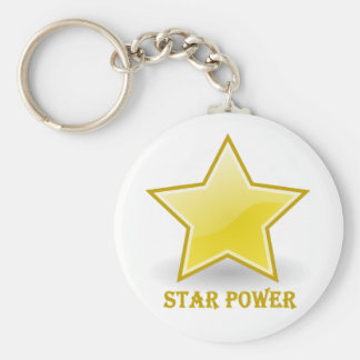 Star Power with a Gold Star Key Chains