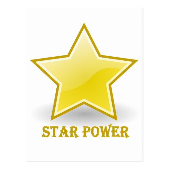 Star Power with a Gold Star Postcard