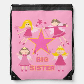 Star Princesses Big Sister Drawstring Bag